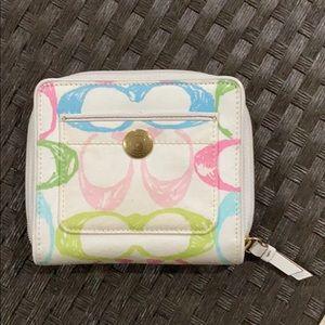 Coach Multicolor C full ziparound wallet